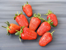 Strawberries on the rustic floor, strawberries in the plate, lovely beautiful strawberry pictures, Stock Image