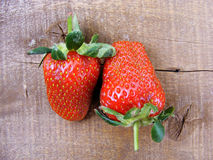 Strawberries on the rustic floor, strawberries in the plate, lovely beautiful strawberry pictures, Royalty Free Stock Photo