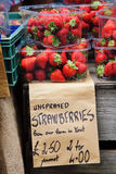 Strawberries on sale Royalty Free Stock Photos