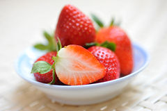 Strawberries in a saucer Royalty Free Stock Photos