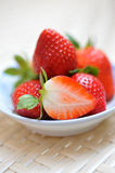 Strawberries in a saucer Stock Photo