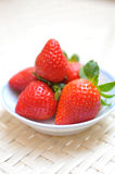Strawberries in a saucer Royalty Free Stock Photography