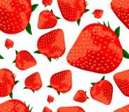 Strawberries seamless background Stock Photos