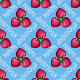Strawberries seamless pattern Royalty Free Stock Photography
