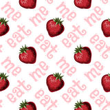 Strawberries seamless pattern Stock Photos