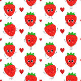 Strawberries,  seamless pattern Royalty Free Stock Photo