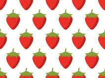Strawberries seamless pattern. Vector. Background Royalty Free Stock Image