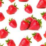 Strawberries seamless wallpaper Stock Photo