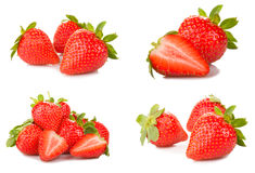 Strawberries set Stock Photo
