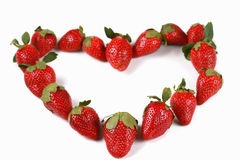 Strawberries in the shape of a heart Royalty Free Stock Photography