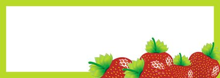 Strawberries sign Royalty Free Stock Photography