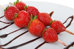 Strawberries Skewer Stock Image