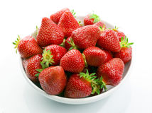 Strawberries small bowl Royalty Free Stock Photos