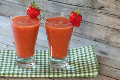 Strawberries Smoothie Stock Photos