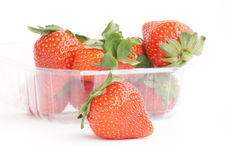 Strawberries. Some fresh red strawberry fruit royalty free stock images