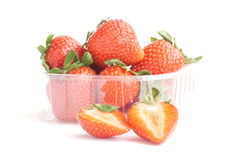 Strawberries. Some fresh red strawberry fruit stock image