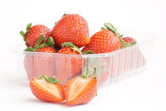 Strawberries. Some fresh red strawberry fruit royalty free stock photo