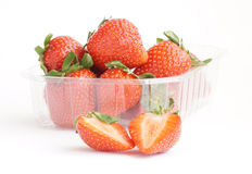 Strawberries. Some fresh red strawberry fruit stock images