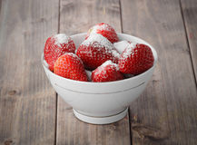 Strawberries sprinkled with sugar Royalty Free Stock Photography