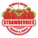 Strawberries stamp Royalty Free Stock Photo