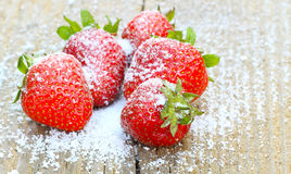 Strawberries with stevia Royalty Free Stock Photos