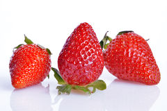Strawberries, still life. Strawberries  cut and ready to eat Royalty Free Stock Photos