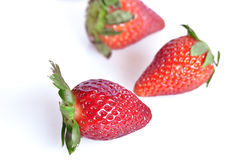Strawberries, still life. Strawberries  cut and ready to eat Royalty Free Stock Photography