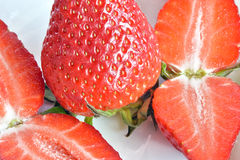 Strawberries, still life. Strawberries  cut and ready to eat Stock Image