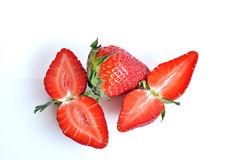 Strawberries, still life. Strawberries  cut and ready to eat Royalty Free Stock Photo