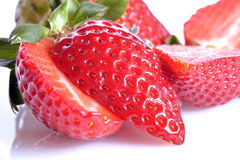 Strawberries, still life. Strawberries  cut and ready to eat Stock Photo