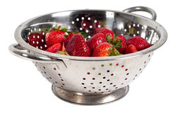 Strawberries in strainer Stock Image