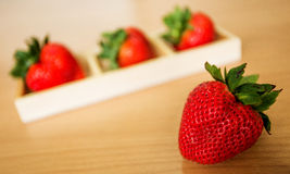 Strawberries. Strawberry and set of strawberries in the box Stock Photography