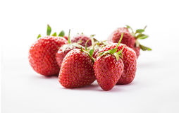 Strawberries in studio on white background. Strawberries group isolated in studio on white background Stock Image