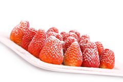Strawberries with sugar Stock Image