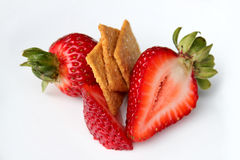 Strawberries with sugar thins isolated Stock Photography