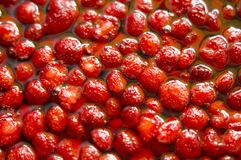 Strawberries in syrup Royalty Free Stock Photo