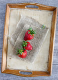 Strawberries on table Royalty Free Stock Images