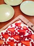 Strawberries tart Stock Images
