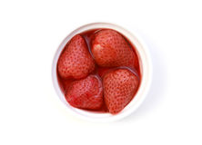 Strawberries in their own juice Stock Images