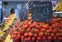 Strawberries in market Royalty Free Stock Image