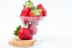 Strawberries with toast Stock Photo