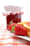 Strawberries and toasts Royalty Free Stock Photos