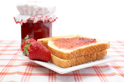 Strawberries and toasts Royalty Free Stock Image
