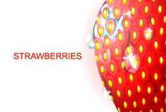 Strawberries under magnification Royalty Free Stock Photography