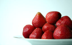 Strawberries V. Strawberries in a plate royalty free stock photo