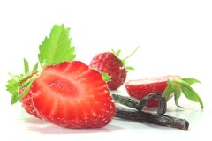 Strawberries with vanilla Royalty Free Stock Photography