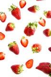 Strawberries vermelhos fotografia de stock
