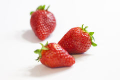 Strawberries vermelhos fotografia de stock royalty free