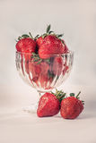 Strawberries in a vintage glass Royalty Free Stock Photo