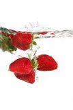 Strawberries in water Royalty Free Stock Images